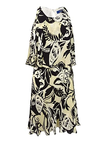 7043523c82d2b Ralph Lauren Womens Black Floral Sleeveless Halter Above The Knee Sheath Dress  Size: 6: Amazon.co.uk: Clothing