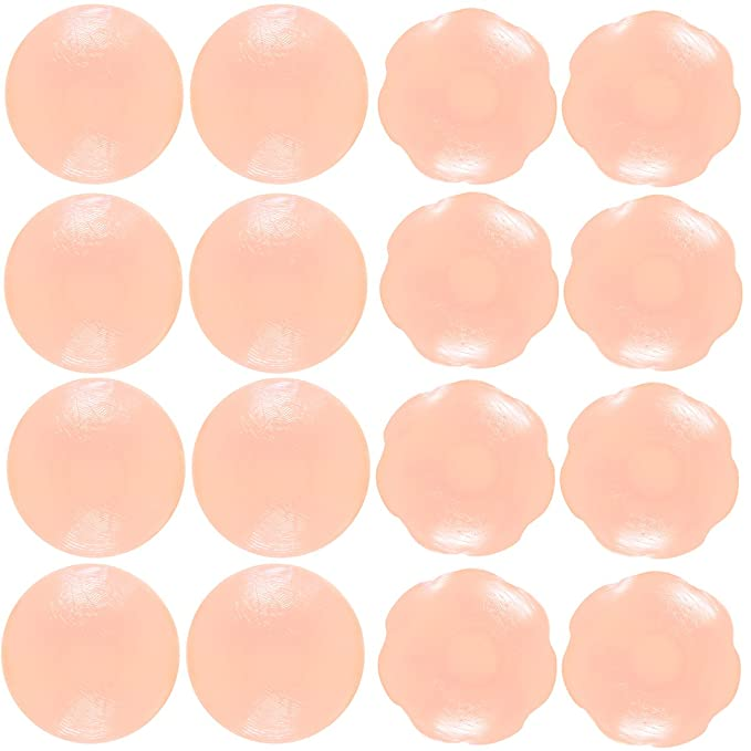 b751e89be Image Unavailable. Image not available for. Color  Senchanting Thin Reusable  Adhesive Silicone Nipple Covers Breast ...