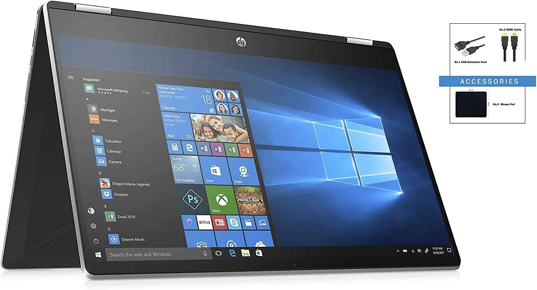 High Performance HP Pavilion X360 15.6'' FHD Touchscreen Laptop w/ Accessories | Intel Core i7-10510U Processor | Intel UHD Graphics | 16GB DDR4 | 512GB SSD | Windows 10 | HP Active Pen | Silver