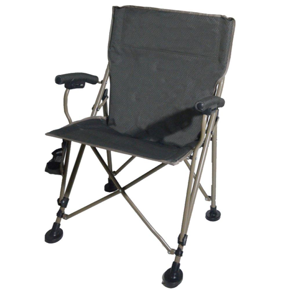 YUJIE Klappstuhl Portabler Strandkorb Camping Angeln Garten Barbecue Stuhl mit Armlehnen Becherhalter