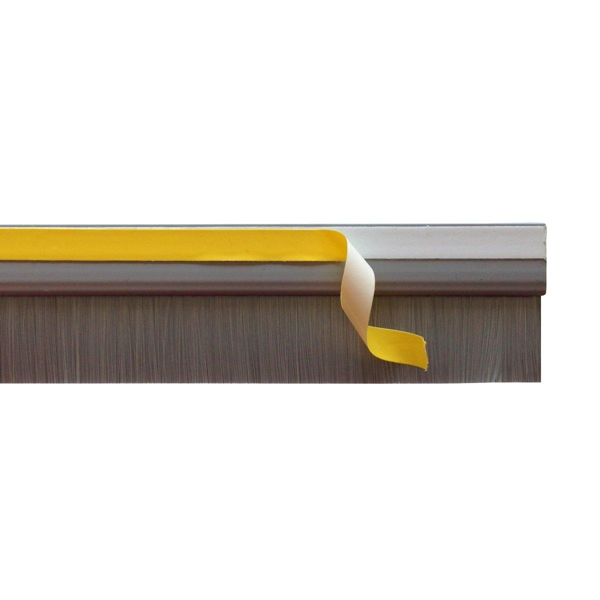 860mm Marron Bas de porte en auto-adh/ésive avec brosse de la couleur correspondant au fixation