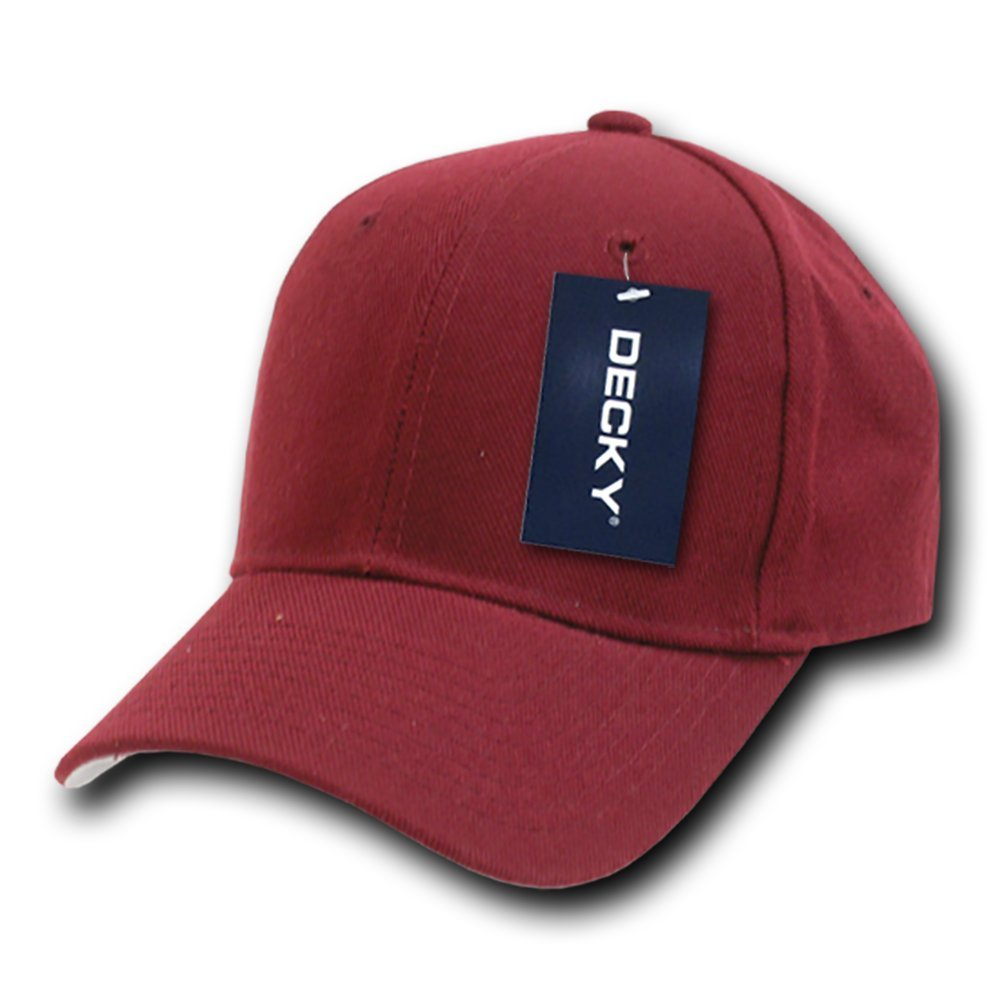 DECKY Fitted Cap, Maroon, 6 7/8 by DECKY
