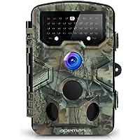 """apeman Wildkamera mit Bewegungsmelder 1080P 12MP 120° Weitwinkel Nachtsicht 20 m mit 2.4"""" LCD Display IP66 Wasserdichtes Gehäuse für die Jagd und Heimtraining Fotofalle"""