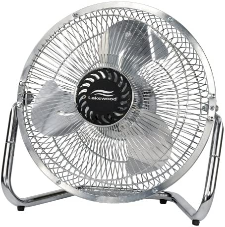 Amazon Com Lakewood 1134 Chrome 3 Wing Blade High Velocity 18 Inch Fan Home Kitchen