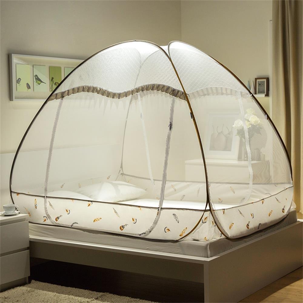 royal-フリーインストールMosquito Netジッパー( 1.35 m ( 4.5フィート)ベッド) ブラウン  ブラウン B01K9XPX7W