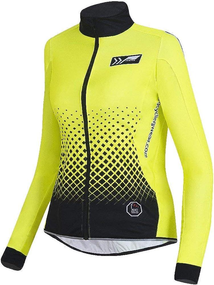 XL prolog cycling wear Fahrradjacke Damen Winter wasserdicht XXXL M,L atmungsaktiv S neon gelb mit Reflex-Elementen Winddicht elastisch XS XXL