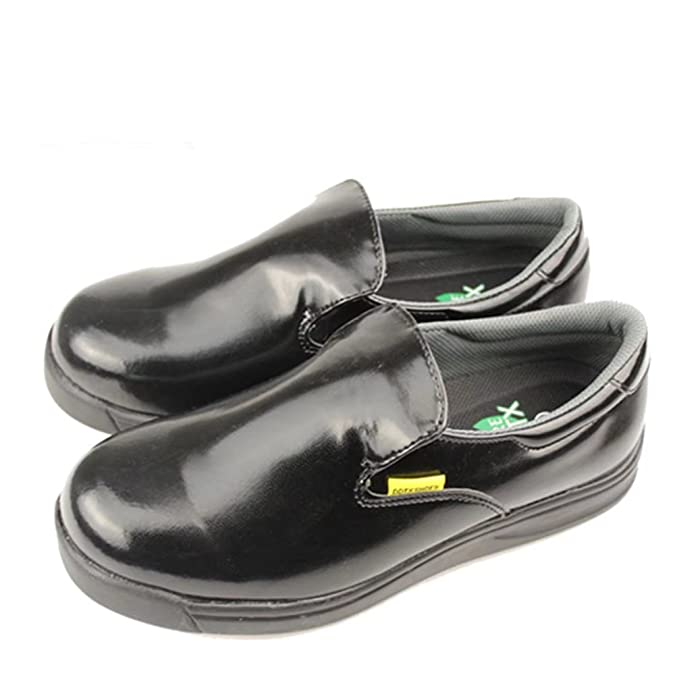 DDTX Unisex-Adult'Slip y Aceite Resistente a la Industria Ligera Zapatos de la Industria Negro(44) bjJ2cE