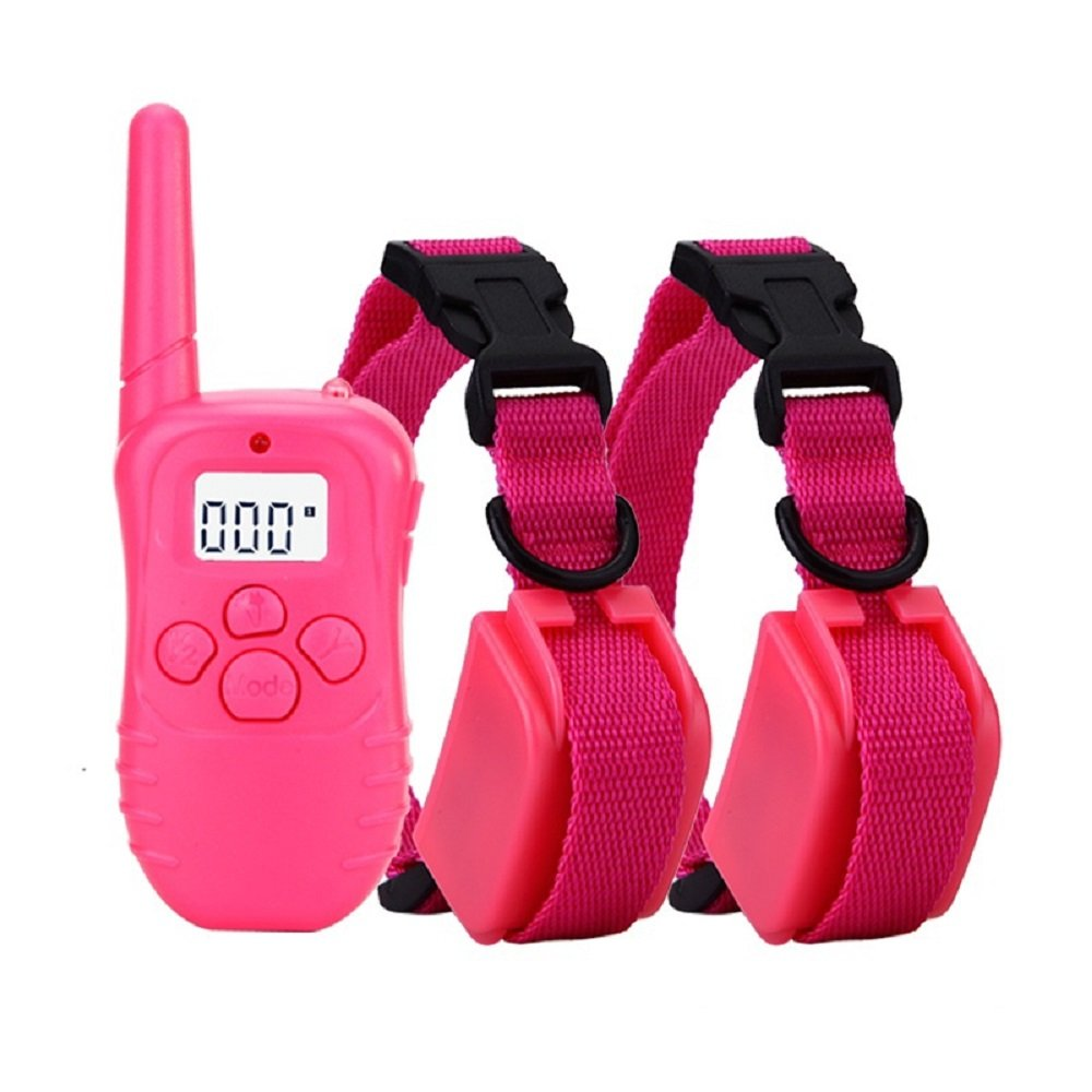 Remote Pet Dog Training Shock Collar rechargeable with LCD Display Shock Collar No Barking Collar for 2 Dogs
