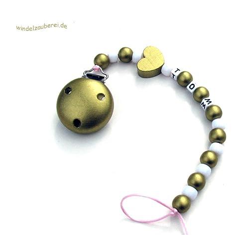 Cadena para chupete Oro Baby, personalizable con nombre y ...