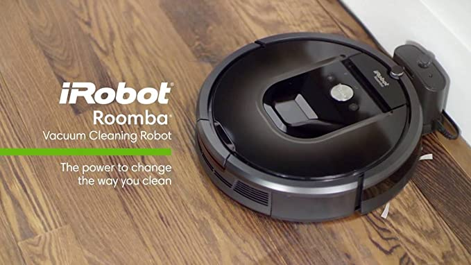 iRobot Roomba 960 Robot aspirador incluye 1 modo Dual pared Virtual Barrera (con pilas) + 4 cepillos laterales + extra extra, 1 filtro HEPA + más (gris 960 ...