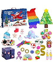 Fidget Advent Calendar 2021 Christmas Countdown Calendar 24 Days Sensory Fidget Toys Set Novelty Decorations Gift Boxes for Xmas Holiday Party Kid Favor