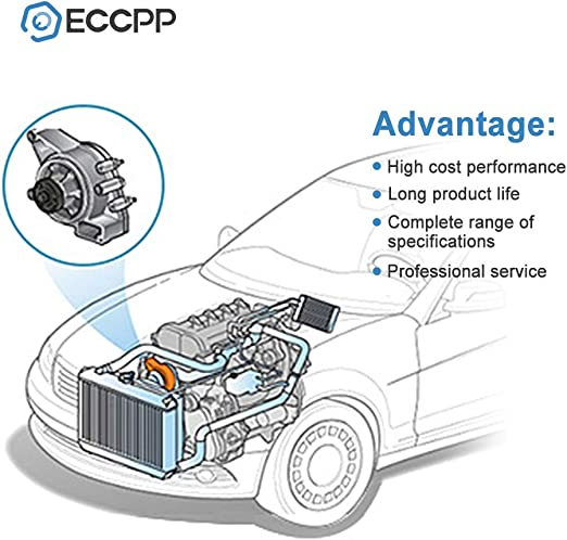 ECCPP Water Pump for 1998-2007 Dodge Charger Stratus Intrepid Chrysler Sebring 2.7L DOHC