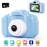 Digital Camera for Kids,hyleton 1080P FHD Kids Digital Video Camera with 2 Inch IPS Screen and 16GB SD Card for 3-10…