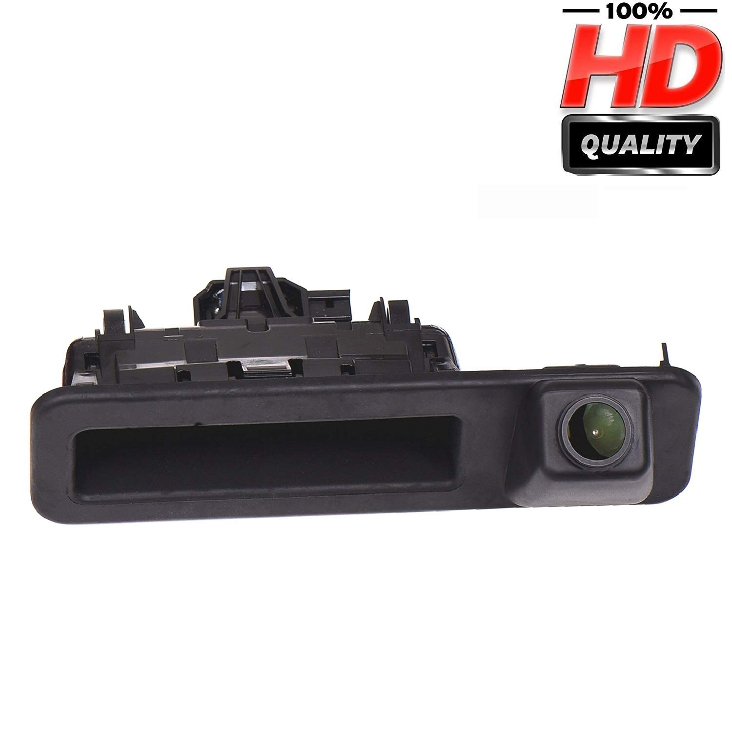 HD 1280x720p Rear Reversing Backup Camera Rearview Trunk Handle Replacement Camera Night Vision Ip68 Waterproof for BMW X1 F48 //BMW 1er F20 F21 BMW 3er F30 BMW 5er F10 2018-2019