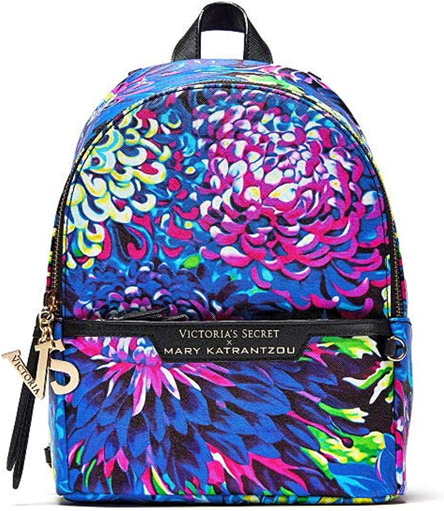 Amazon Com Victoria S Secret Backpack Mary Katrantzou Small City Designer Collection Fashion Show Floral Print Clothing