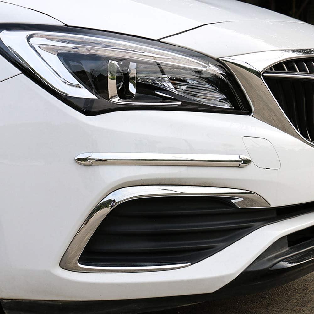 Front Back Bumper Anti-Rub Guard Cover Sticker Protector 3D White Streamline Car