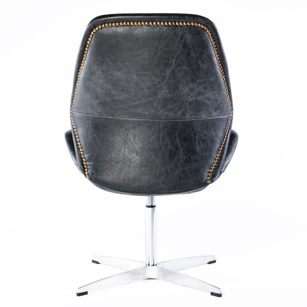 Phoenixarts Vintage Giratorio sillón Retro Silla de Cuero ...