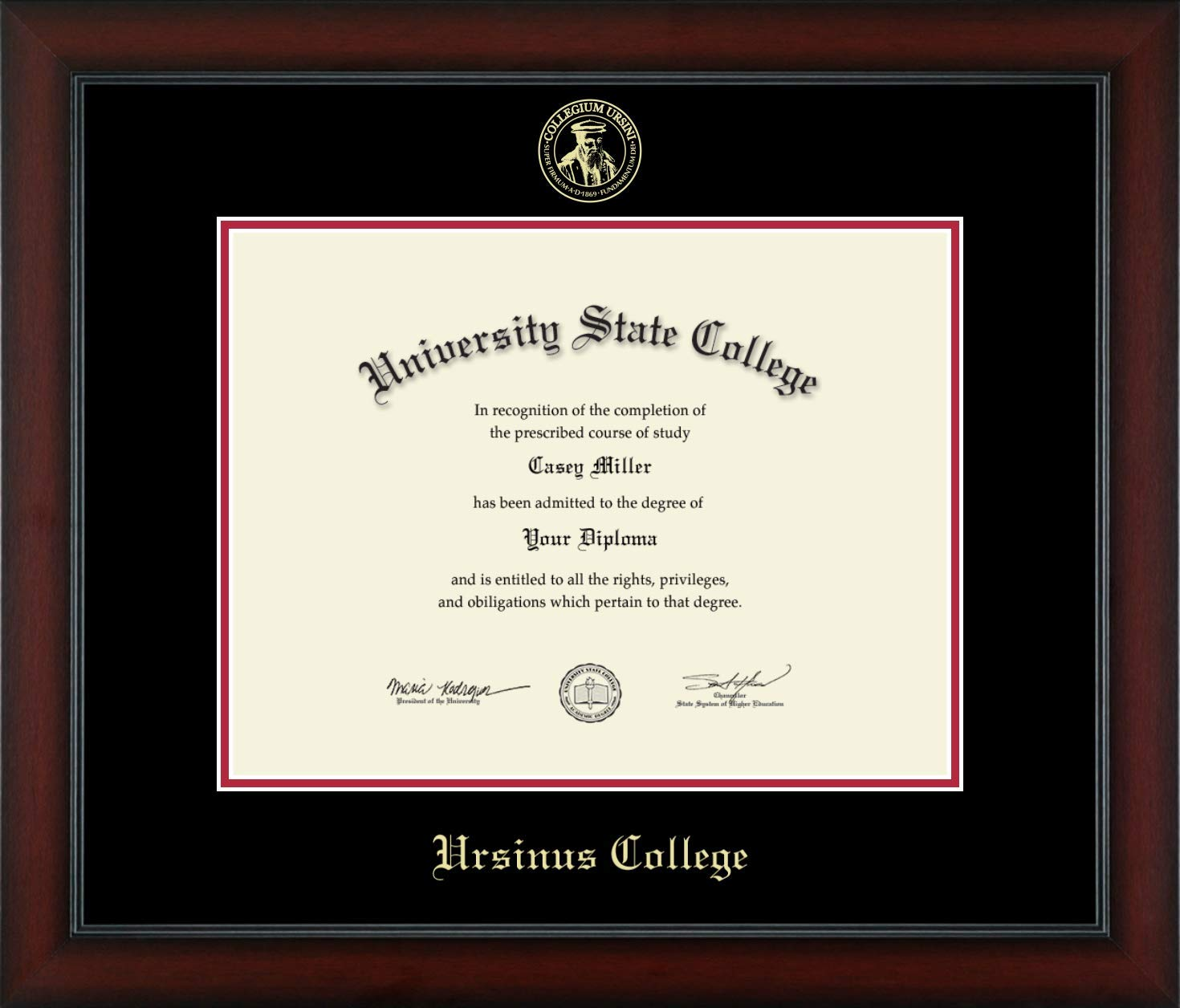 Ursinus College - Officially Licensed - Gold Embossed Diploma Frame - Diploma Size 17'' x 13''