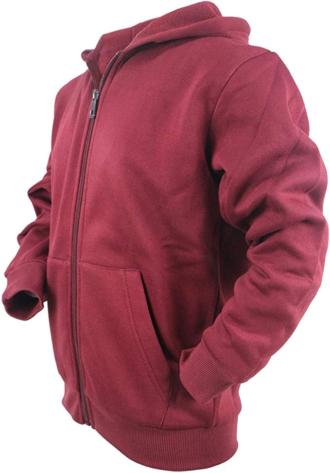 Leehanton Boys Fleece Hoodie Pullover Lightweight Hooded Sweatshirts with Rib Cuffs /& Kangroo Pocket Burgundy