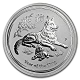 #9: 2018 AU Australia 1/2 oz Silver Lunar Dog BU 1/2 OZ Brilliant Uncirculated