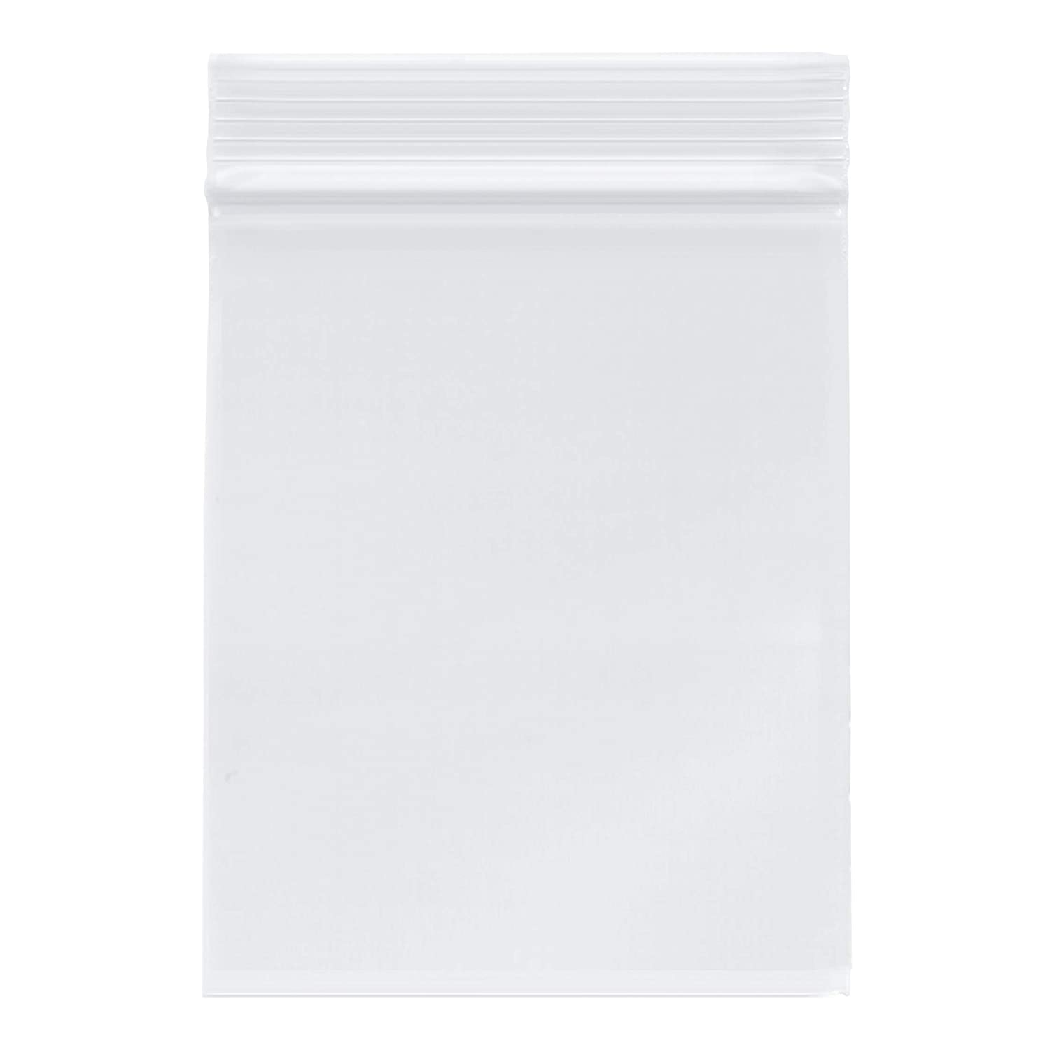"Plymor Zipper Reclosable Plastic Bags, 2 Mil, 4"" x 5"" (Case of 1000)"