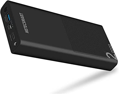 Cargador de carga rápida tipo C de 20000 mAh, cargador portátil de carga rápida 3.0 Powerbank USB C, batería externa de respaldo móvil, compatible con Nintendo Switch, teléfono celular, iPhone, Metecsmart: Amazon.es: