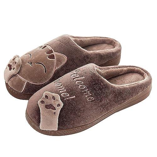 Slippers for Women Kids Winter Comfort Memory Foam Cat Kitty Cartoon Slippers Indoor