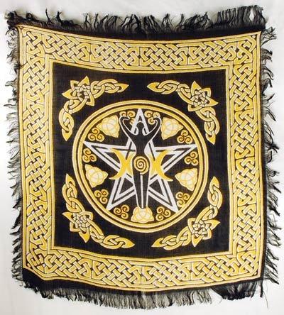 Pentagram Goddess Altar Cloth 18