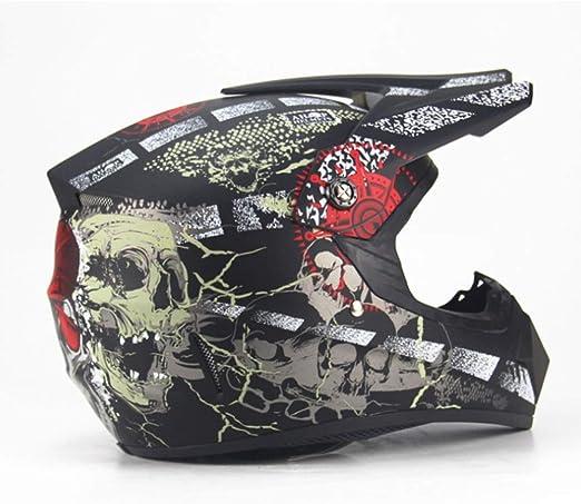 YSHCasco Motociclista Adulto Motocross Off Road Casco ATV Suciedad ...