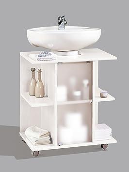 mueble, modulo bajo para lavabo de baño, varios estantes y puerta ... - Muebles De Bano Para Debajo Del Lavabo