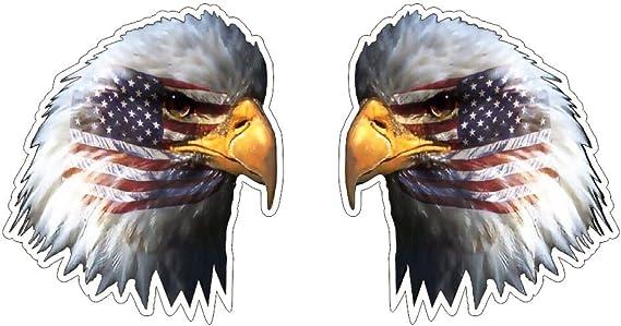 Bald Eagle Adler Weisskopfseeadler Mit Usa Us Fahne Flag Amerika Aufkleber Sticker Gratis Schlüsselringanhänger Aus Kokosnuss Schale Auto Motorrad Helm Windows Army Navy Patriot Racing Tuning Auto