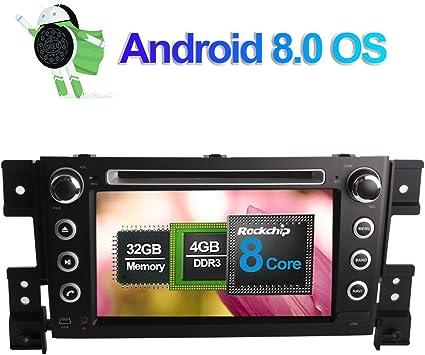 7 Zoll 4gb Ram Android 8 0 Autoradio Stereo Cd Dvd Multimedia Player Für Suzuki Grand Vitara 2005 2015 Mit Bluetooth Gps Navigation Unterstützung Fm Am Rds Telefon Link Wlan 4g Av Out Kamera Eingang