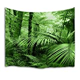 QIYI Home Wall Hanging Nature Art Fabric Tapestry for Dorm Room,Bedroom,Living Room Decorations-60 L x 51'' W(153cmx130cm)-The Tropical Forest