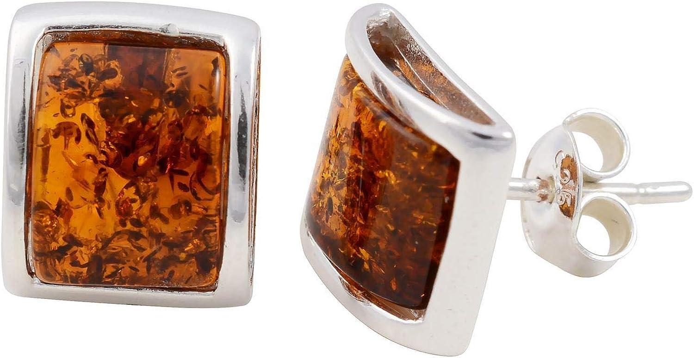 Boucles doreilles en argent sterling et miel dambre de la BaltiqueLottie