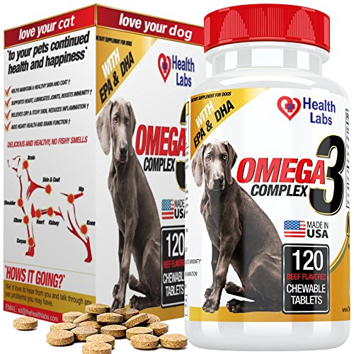 Omega-3-Fish-Oil-Supplement-for-Dogs-120-Beef-Chews-with-DHA-EPA-Pure-Natural-Organic-Nutritional-Supplement-for-Pets-Essential-Fatty-Acids-No-Mess-or-Fishy-Smells-For-Healthy-Skin-Shiny-Coats
