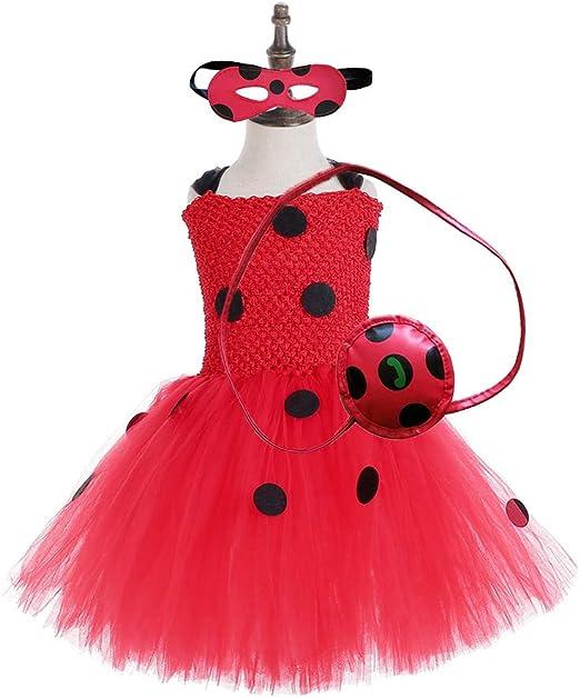 Azly-Cloth Ladybug Tutu Dress Disfraz de Halloween, Tela de Gran ...