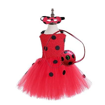 Red Ladybird Tutu With Peplum Fancy Dress Accessory