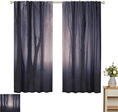 2020 Gardome Blackout Curtains Forest,Path Through Dark Deep