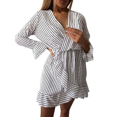 350a26a5bacbd Femme Robe d été Bohême Maxi Robe Imprimé Floral Col V Profond à ...