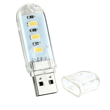 Noche portátil USB Mini luz de la lámpara LED del teclado de ordenador lámparas de escritorio