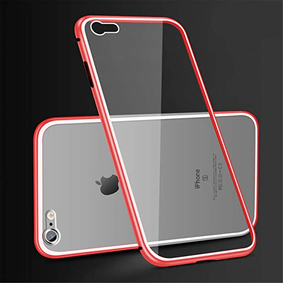 4bac67ada71 Image Unavailable. Image not available for. Color: 360 Magnetic Adsorption  Case for iPhone X 8 Plus 7 XS Max+Tempered Glass Back
