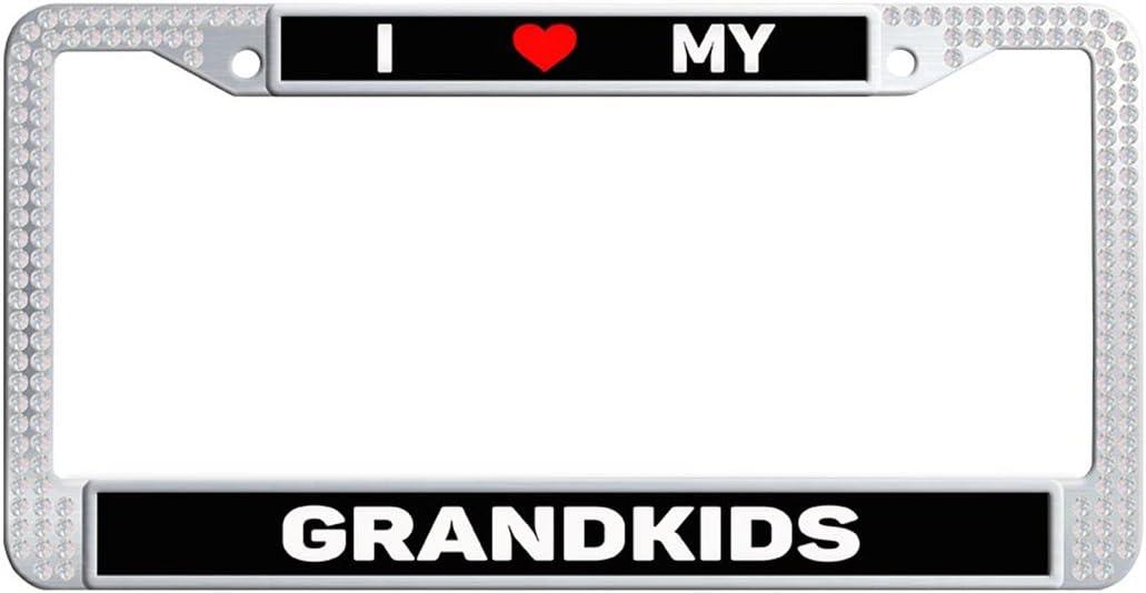 I Heart My Grandkids License Plate Frame Tag Holder