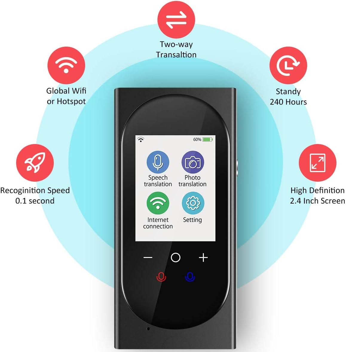 Buoth Traductor Instantaneo de voz Dispositivo compatible con ...
