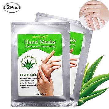 Máscara para manos, exfoliante, cuidado de las manos, elimina la piel muerta, hidratante, blanquea, callos, amplio cuidado con unos prácticos guantes: ...