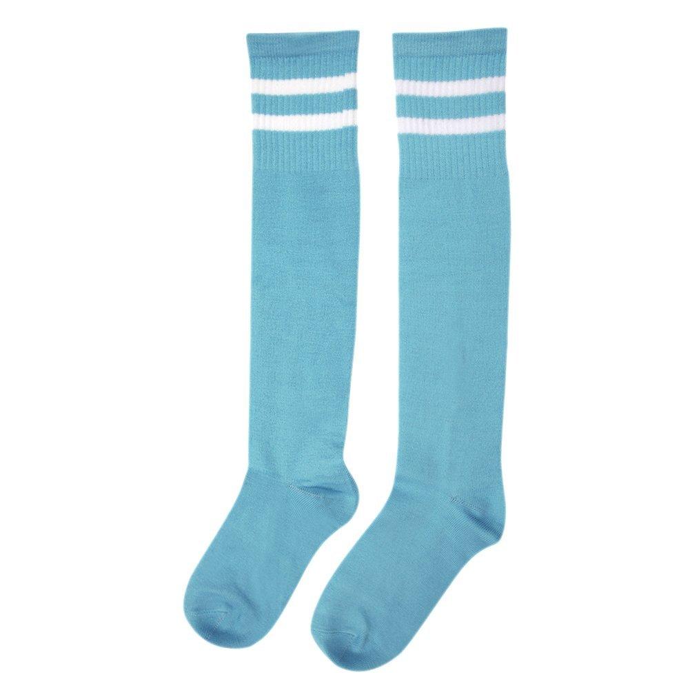 CHIC-CHIC Kids Children Sport Football Soccer Baseball Striped Long Socks Unisex Over Knee High Socks