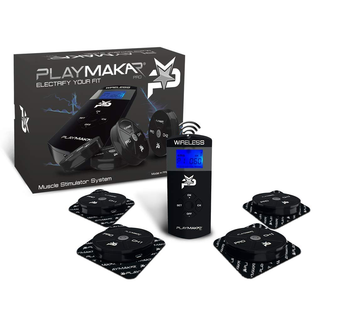 PRO-1000 PlayMakar Pro Strength & Recovery System Wireless Electrical Muscle Stimulator System with TENS Unit + EMS or NMES Combination
