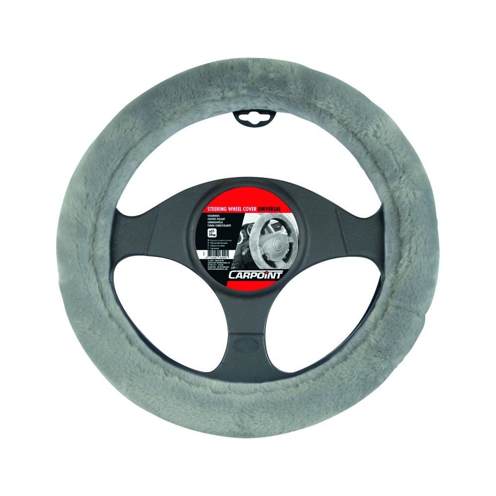 IWH 102705 Universal Steering Wheel Cover Anthracite Lambskin