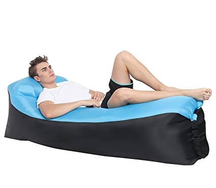 Lougnee Inflatable Lounger Air Sofa Beach Lounge Bed Couch Dream Chair With  Carrying Bag For Home