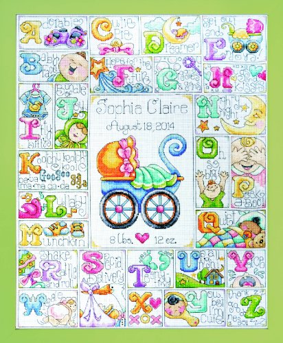 Design Works Crafts Tobin 56D Baby ABC Counted Cross Stitch Kit-16