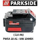 2 parkside batterie aggiuntive per pap 20v a1 for Smerigliatrice a batteria parkside